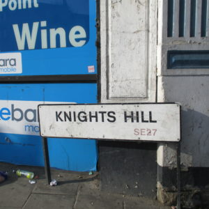 After a final accident black spot of a bend, the road dipped, running into the steep drop of Knights Hill. Knights Hill? The would-be signs were stacking up . . .