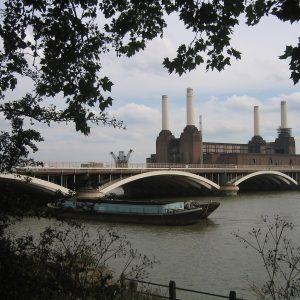 Before me, on the horizon, towered the immovable chimneys of Battersea Power Station...
